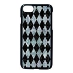 DIAMOND1 BLACK MARBLE & ICE CRYSTALS Apple iPhone 7 Seamless Case (Black)