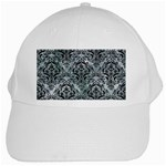 DAMASK1 BLACK MARBLE & ICE CRYSTALS White Cap