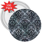 DAMASK1 BLACK MARBLE & ICE CRYSTALS 3  Buttons (100 pack)