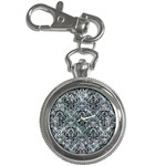 DAMASK1 BLACK MARBLE & ICE CRYSTALS Key Chain Watches