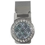 DAMASK1 BLACK MARBLE & ICE CRYSTALS Money Clips (CZ)