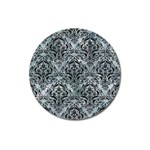 DAMASK1 BLACK MARBLE & ICE CRYSTALS Magnet 3  (Round)