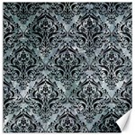 DAMASK1 BLACK MARBLE & ICE CRYSTALS Canvas 20  x 20