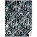 DAMASK1 BLACK MARBLE & ICE CRYSTALS Canvas 36  x 48