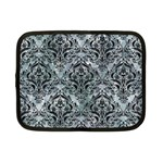DAMASK1 BLACK MARBLE & ICE CRYSTALS Netbook Case (Small)