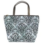 DAMASK1 BLACK MARBLE & ICE CRYSTALS Bucket Bags