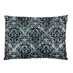 DAMASK1 BLACK MARBLE & ICE CRYSTALS Pillow Case