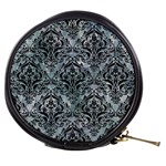 DAMASK1 BLACK MARBLE & ICE CRYSTALS Mini Makeup Bags