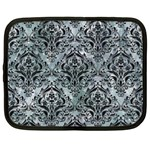 DAMASK1 BLACK MARBLE & ICE CRYSTALS Netbook Case (XL)