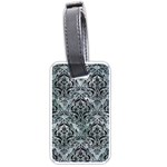 DAMASK1 BLACK MARBLE & ICE CRYSTALS Luggage Tags (Two Sides)