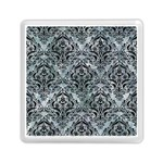 DAMASK1 BLACK MARBLE & ICE CRYSTALS Memory Card Reader (Square)