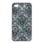 DAMASK1 BLACK MARBLE & ICE CRYSTALS Apple iPhone 4/4s Seamless Case (Black)