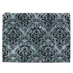 DAMASK1 BLACK MARBLE & ICE CRYSTALS Cosmetic Bag (XXL)