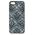 DAMASK1 BLACK MARBLE & ICE CRYSTALS Apple iPhone 5 Seamless Case (Black)
