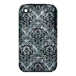 DAMASK1 BLACK MARBLE & ICE CRYSTALS iPhone 3S/3GS