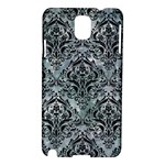 DAMASK1 BLACK MARBLE & ICE CRYSTALS Samsung Galaxy Note 3 N9005 Hardshell Case