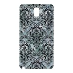 DAMASK1 BLACK MARBLE & ICE CRYSTALS Samsung Galaxy Note 3 N9005 Hardshell Back Case