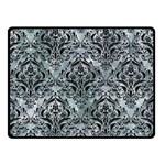 DAMASK1 BLACK MARBLE & ICE CRYSTALS Double Sided Fleece Blanket (Small)