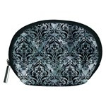 DAMASK1 BLACK MARBLE & ICE CRYSTALS Accessory Pouches (Medium)