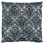 DAMASK1 BLACK MARBLE & ICE CRYSTALS Standard Flano Cushion Case (One Side)