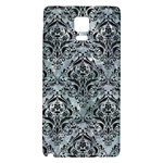 DAMASK1 BLACK MARBLE & ICE CRYSTALS Galaxy Note 4 Back Case