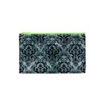DAMASK1 BLACK MARBLE & ICE CRYSTALS Cosmetic Bag (XS)
