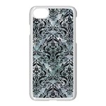 DAMASK1 BLACK MARBLE & ICE CRYSTALS Apple iPhone 7 Seamless Case (White)