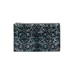 DAMASK2 BLACK MARBLE & ICE CRYSTALS Cosmetic Bag (Small)  from DesignYourOwnGift.com Front
