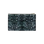 DAMASK2 BLACK MARBLE & ICE CRYSTALS Cosmetic Bag (Small)  from DesignYourOwnGift.com Back