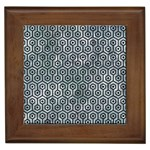 HEXAGON1 BLACK MARBLE & ICE CRYSTALS Framed Tiles