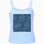 HEXAGON1 BLACK MARBLE & ICE CRYSTALS Baby Blue Spaghetti Tank