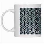 HEXAGON1 BLACK MARBLE & ICE CRYSTALS White Mugs