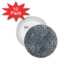 HEXAGON1 BLACK MARBLE & ICE CRYSTALS 1.75  Buttons (10 pack)