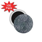 HEXAGON1 BLACK MARBLE & ICE CRYSTALS 1.75  Magnets (100 pack)