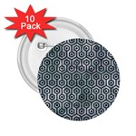 HEXAGON1 BLACK MARBLE & ICE CRYSTALS 2.25  Buttons (10 pack)