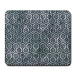 HEXAGON1 BLACK MARBLE & ICE CRYSTALS Large Mousepads