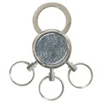 HEXAGON1 BLACK MARBLE & ICE CRYSTALS 3-Ring Key Chains