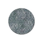 HEXAGON1 BLACK MARBLE & ICE CRYSTALS Magnet 3  (Round)
