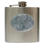 HEXAGON1 BLACK MARBLE & ICE CRYSTALS Hip Flask (6 oz)