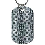 HEXAGON1 BLACK MARBLE & ICE CRYSTALS Dog Tag (Two Sides)