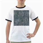 HEXAGON1 BLACK MARBLE & ICE CRYSTALS Ringer T-Shirts