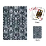 HEXAGON1 BLACK MARBLE & ICE CRYSTALS Playing Card