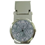 HEXAGON1 BLACK MARBLE & ICE CRYSTALS Money Clip Watches
