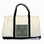HEXAGON1 BLACK MARBLE & ICE CRYSTALS Two Tone Tote Bag
