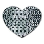 HEXAGON1 BLACK MARBLE & ICE CRYSTALS Heart Mousepads