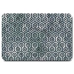 HEXAGON1 BLACK MARBLE & ICE CRYSTALS Large Doormat