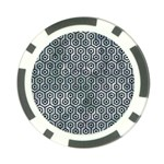 HEXAGON1 BLACK MARBLE & ICE CRYSTALS Poker Chip Card Guard