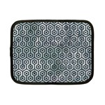 HEXAGON1 BLACK MARBLE & ICE CRYSTALS Netbook Case (Small)