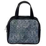 HEXAGON1 BLACK MARBLE & ICE CRYSTALS Classic Handbags (One Side)