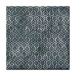 HEXAGON1 BLACK MARBLE & ICE CRYSTALS Face Towel